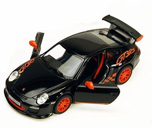 - 2010 Porsche 911 GT3 RS, Black - Kinsmart 5352D - 1/36 scale Diecast Model Toy Car