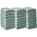 AmazonBasics Cotton Hand Towels - Pack of 24, Seafoam Green