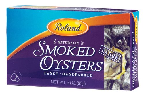 Roland Oysters, Large Smoked, 3 Ounce (Pack of 5)