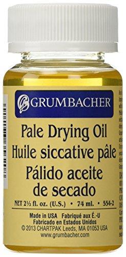 2.5 Ounce Oil - Grumbacher Pale Drying Oil, 2-1/2-Oz. Jar, #554-2