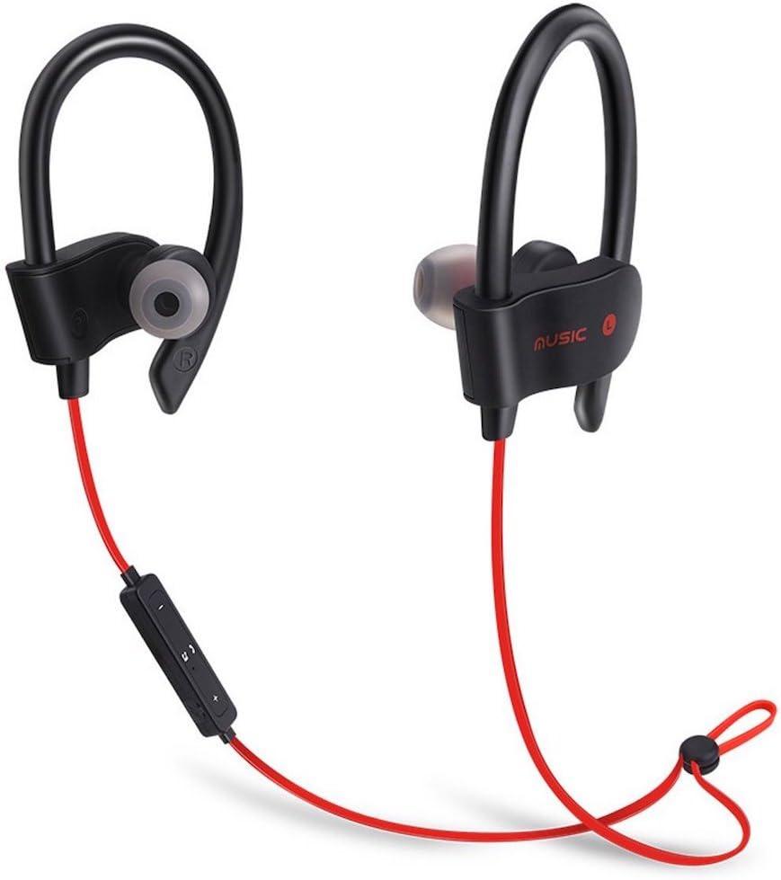 Auriculares Bluetooth–Auriculares inalámbrico de Safari para correr Entrenamiento Gimnasio o otros deportes con micrófono integrado para llamadas manos libres