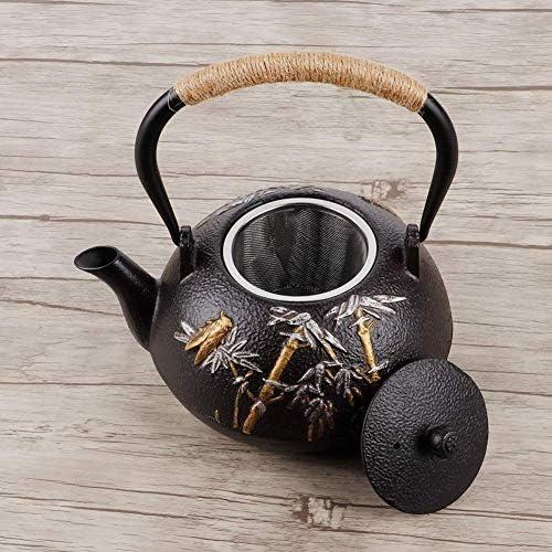 Iron pot ketel highend theepot thee service gift waterkoker kung fu gezondheid pot gietijzeren theepot bamboe cicade ketel theepot drinkware ijzeren theepot thee service Xping