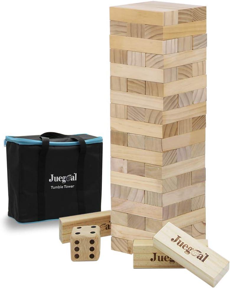 LARGE JENGA TUMBLING TOWER WOOD GAME TOY FAMILY FUN
