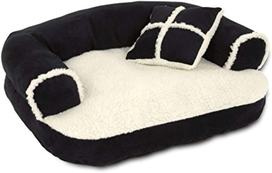 Petmate Aspen Pet Sofa Bed with Pillow for Comfort and Support - One Size - Assorted Colors: Pet Supplies