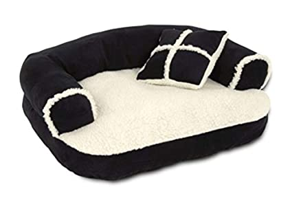 amazon com aspen pet sofa bed with pillow for comfort and support rh amazon com pet sofa bed gray pet sofa bed for dogs