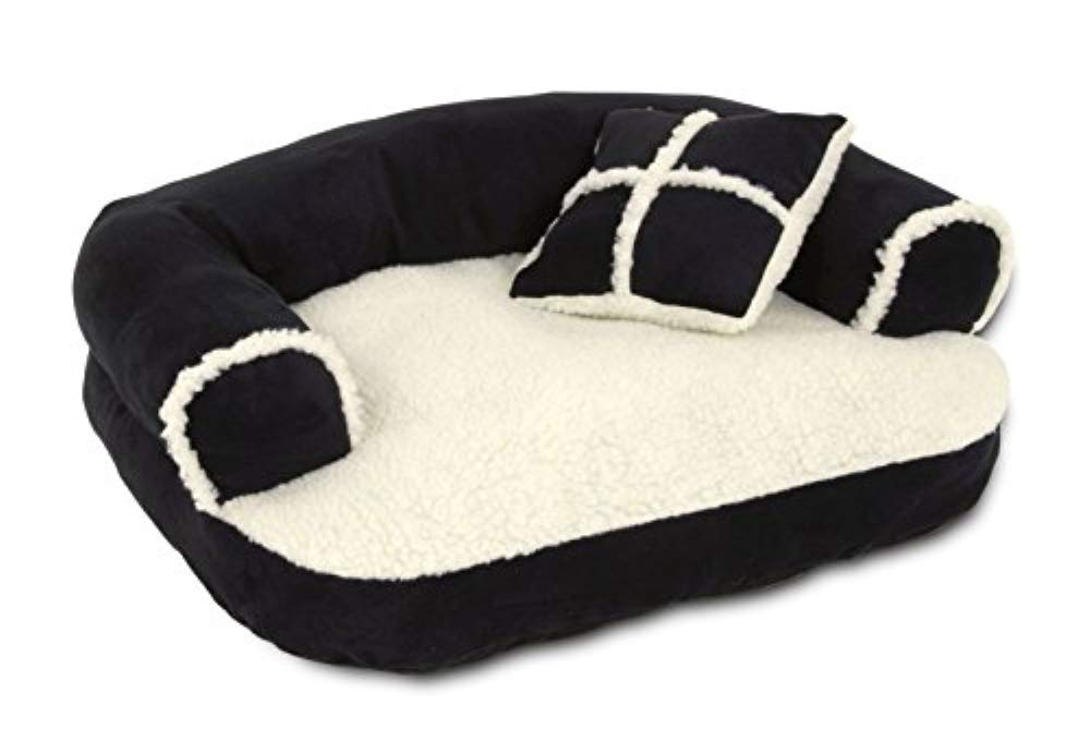 Aspen Pet Sofa Bed with Pillow for Comfort and Support - One Size - Assorted Colors