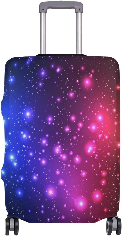 FOLPPLY Colorful Shine Starry Sky Luggage Cover Baggage Suitcase Travel Protector Fit for 18-32 Inch