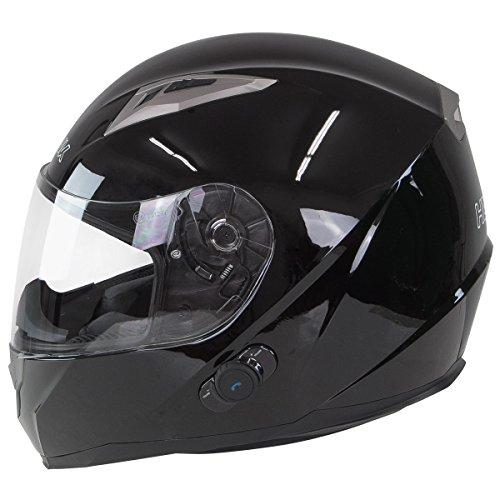 Hawk H-510 Glossy Black Bluetooth Full Face Helmet - Small by Hawk Helmets (Image #1)