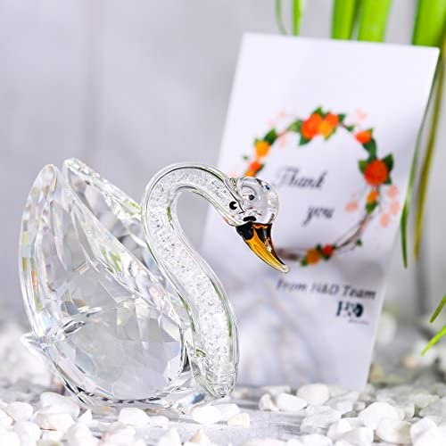 H/&D Clear Crystal Swan Statue with Rhinestomes Home Decoration Gifts for her H/&D CRYSTAL MANUFACTURE Co.Ltd AGS1821600