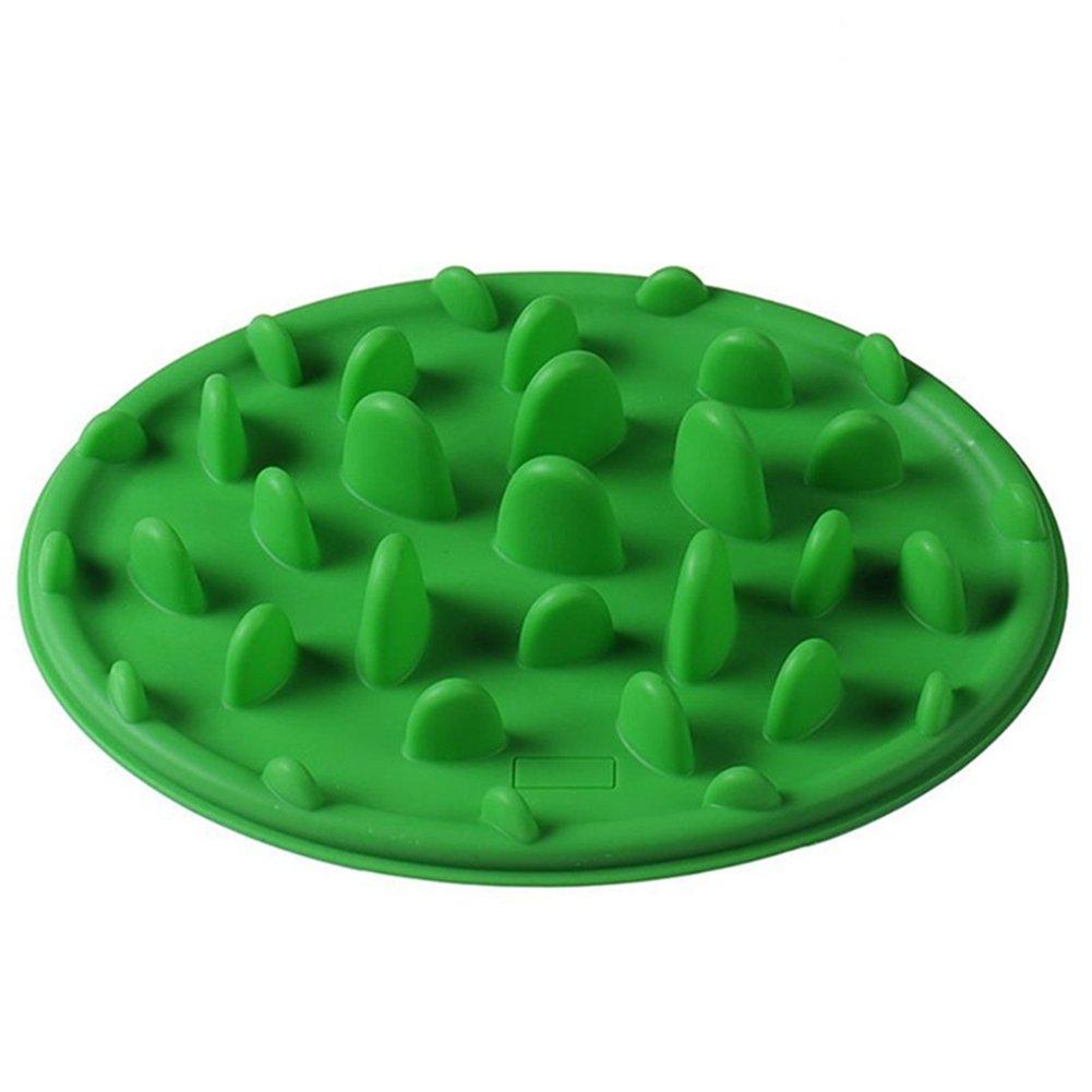 EBRICKON Pet Anti-Gulping Slow Down Food Water Eating Bowl Dogs Eating Bowl Basin Design Pet Dog Cat Food Slow Feeder Bowl (Green)