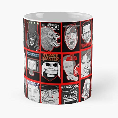 Horror Movies Cinema Film - 11 Oz Coffee Mugs Unique Ceramic Novelty Cup, The Best Gift For Halloween.]()