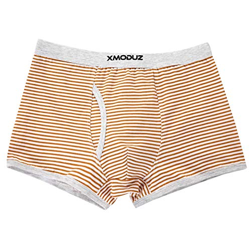 Xiaomaoduizhang Toddler Little Boys Soft Cotton Boxer Briefs Underwear 2 Pack Boys' 2-Pack Athletic Pink+Brown 110cm by Xiaomaoduizhang (Image #3)