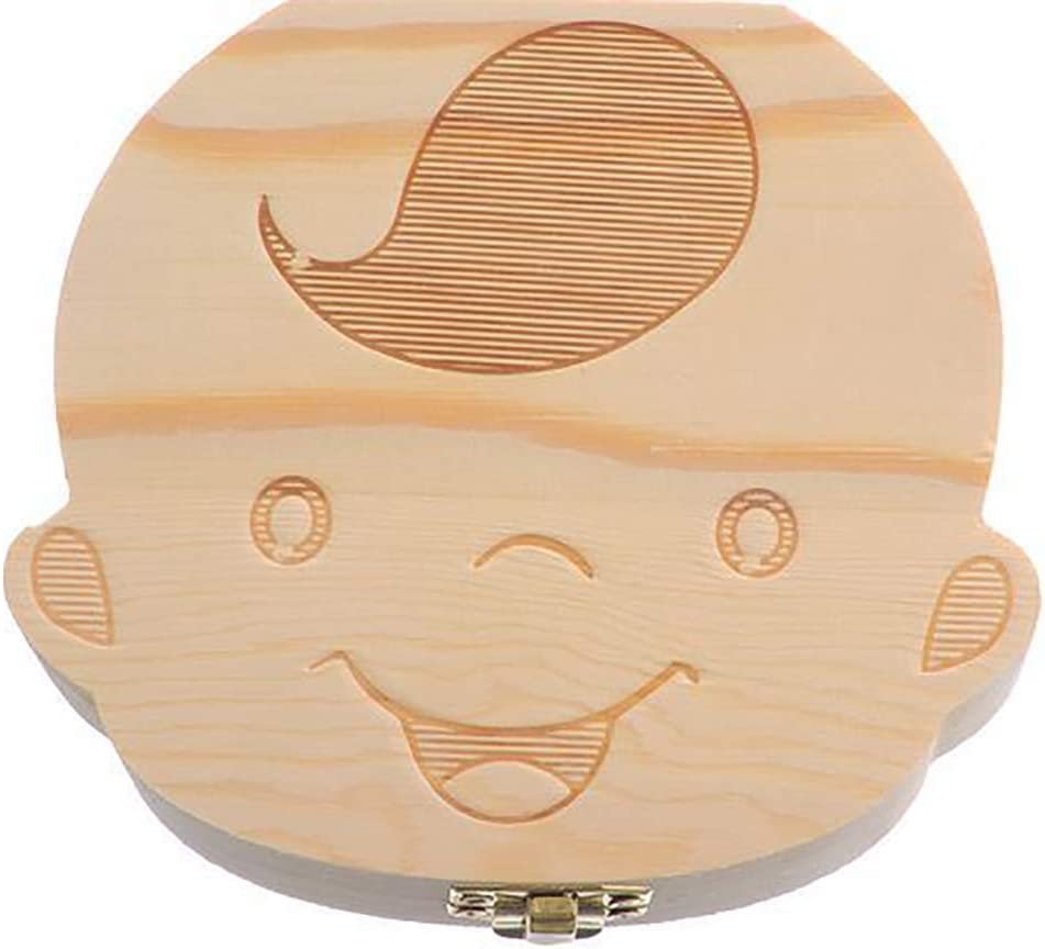 Ogquaton - Caja organizadora para Guardar Dientes de bebé (Madera ...