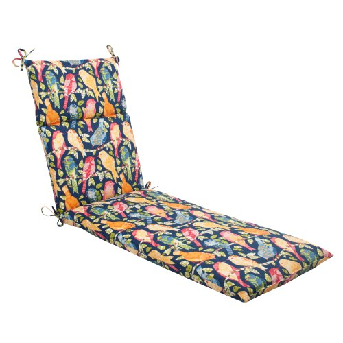 Pillow Perfect Indoor/Outdoor Ash Hill Chaise Lounge Cushion, Navy