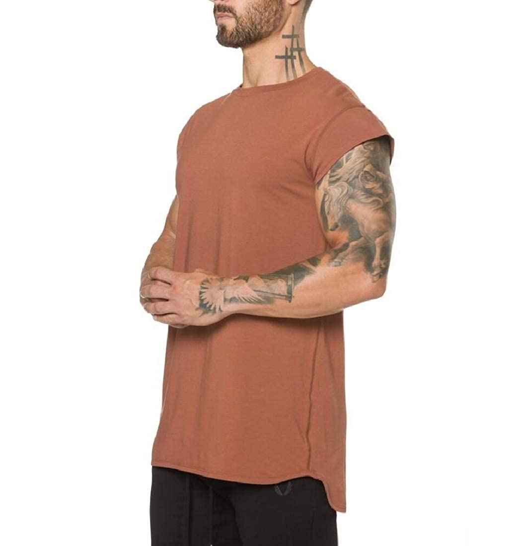 Young2 Mens Workout Short Sleeve Running Workout Breathable Tee T Shirt