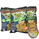 GEMBOS Plantain Chips with Pork Skins/Chicharron 12-PACK - 1 FREE GIFT