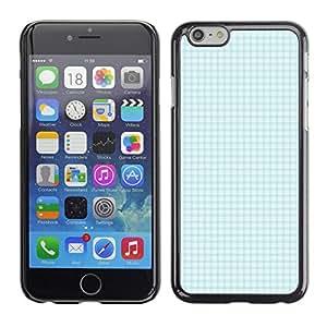 MOBMART Carcasa Funda Case Cover Armor Shell PARA Apple iPhone 6 PLUS / 6S PLUS 5.5 - Checkered Ocean Green Pattern