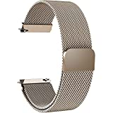 7 Colors for Quick Release Watch Strap, Fullmosa Milanese Magnetic Closure Stainless Steel Watch Band Replacement Strap for 23mm Gold