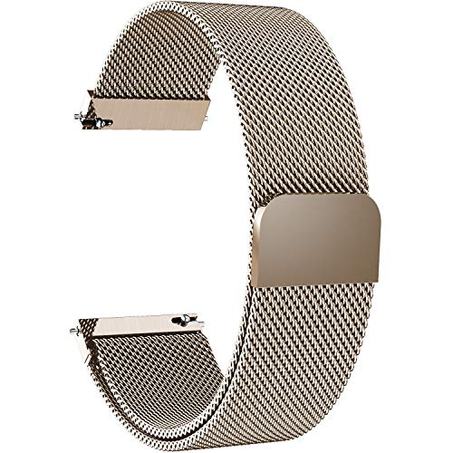 7 Colors for Quick Release Watch Strap, Fullmosa Magnetic Closure Stainless Steel Watch Band Replacement Strap for 18mm Gold