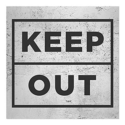 5-Pack CGSignLab 12x12 Victorian Card Window Cling Danger Keep Out