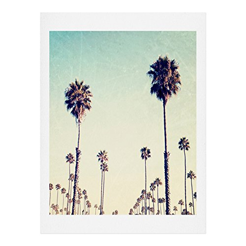 Deny Designs Bree Madden California Palm Trees Art Print, 16'' x 20'' by Deny Designs