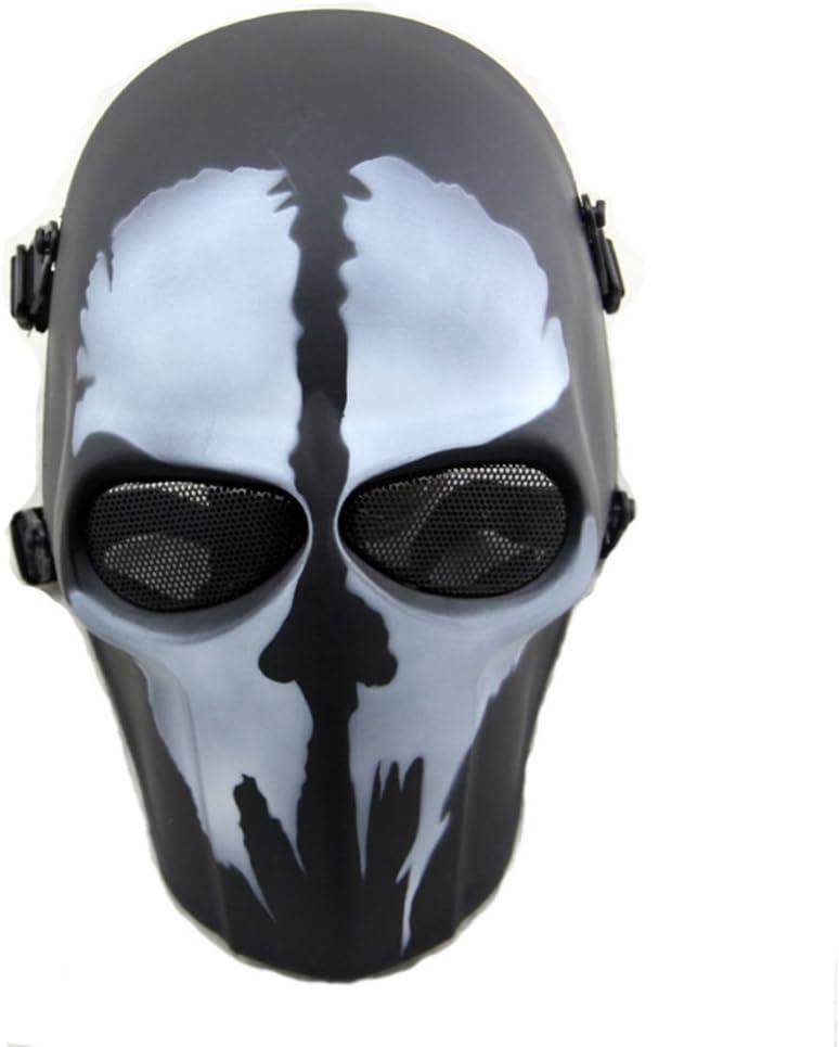 Máscara táctica de protección CS para paintball, airsoft, hockey, BB, disfraces, Halloween, cosplay, cobertura completa, Skull