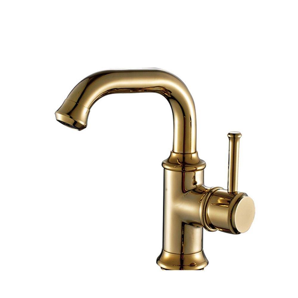 Küche oder Badezimmer Waschbecken Mischbatterie Schwarz antiker Kunst Becken einzelnen Leitungswasser Plus High-Basin Wasser Leitungswasser mit heißem und kaltem Wasser High-Copper antik schwarz Tippen
