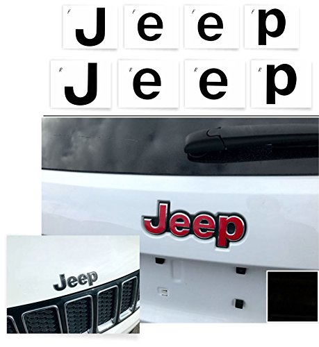 "Reflective Concepts -""JEEP"" Front and Rear Emblem Overlay ..."