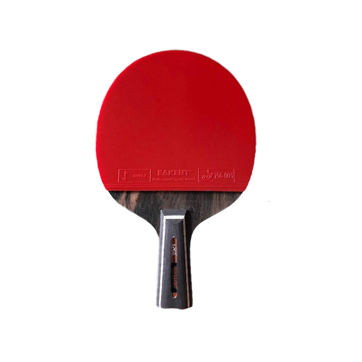 HENGTONGTONGXUN Table Tennis Racket, Single Shot, Seven Stars, Double-Sided Ping-Pong Carbon Pen-Hold, Horizontal Shot (Size : B)