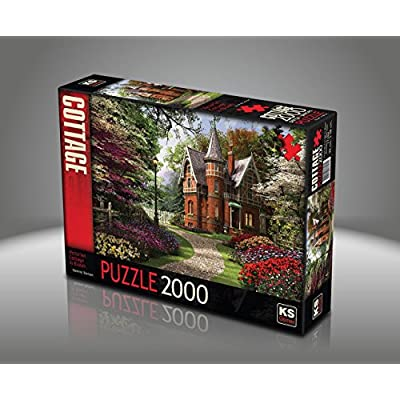 Sk Jigsaw Puzzle 2000 Pieces Dominic Davison Victorian Cottage In Bloom