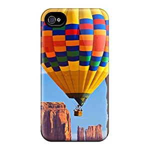 4/4s Scratch-proof Protection Case Cover For Iphone/ Hot The Love Of The Hot Air Balloon Phone Case