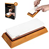 1000 grit masahiro whetstone - Knife Sharpening Stone Kits,Whetstone 1000/6000 Two-Sided Knife Sharpener,MayPal Whetstone Knife With Non-Slip Silicone Base Holder and Bamboo Base