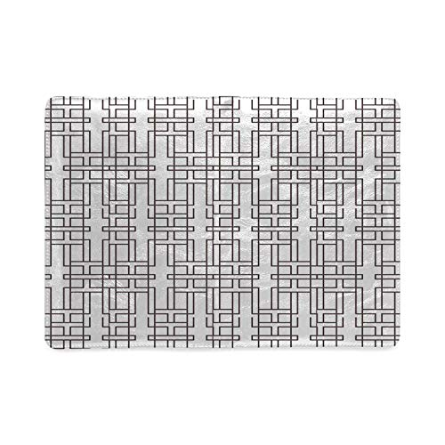 Geometric Utility Notebooks,Pattern with Abstract Modern Artistic Design Striped with Maze Inspired Motifs Decorative for Work,5.82