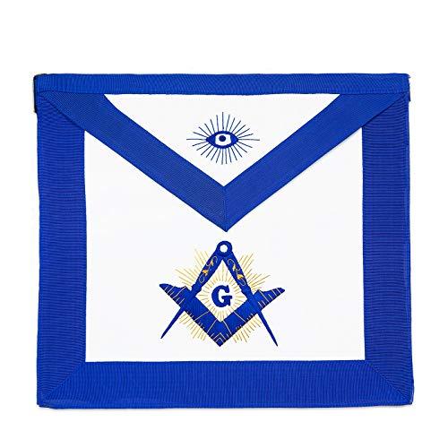 (Gold Shining Square & Compass Master Mason Masonic Apron )