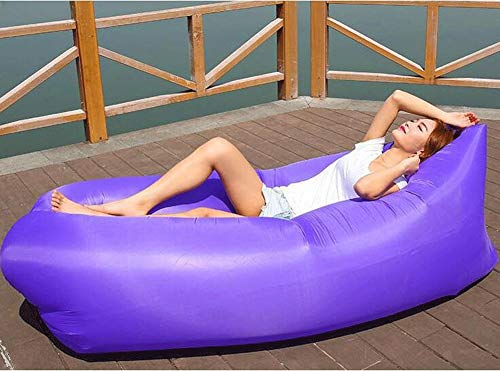 LIYONG Beanbag, Afternoon Air Bed, Inflatable Beach Bed, Living Room Recliner (Color : Purple) from LIYONG