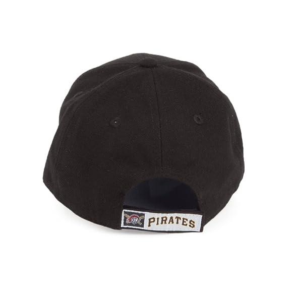 74bf6ddf031 New Era Kids 9FORTY Pittsburgh Pirates Baseball Cap - League - Black Black  YOUTH ADJ  Amazon.co.uk  Clothing