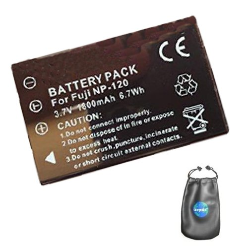 Digital Replacement Camera and Camcorder Battery for Fujifilm NP-120, FinePix: M603 - Includes Lens Pouch