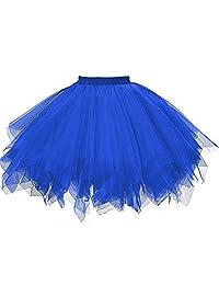 KaBuNi Women's 1950s Ballet Tutu Mini Petticoats Dance Dress Candy Color