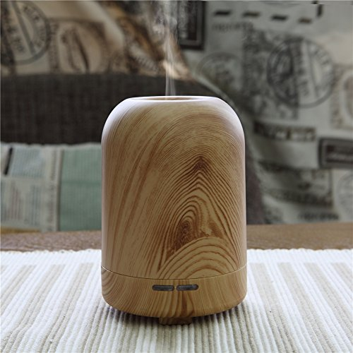 TRADE 100ML Ultrasonic Timer Settings and Waterless Auto Shut-off Protection Air Purification Spray Circle Column Shallow Wood Grain Humidifier,Suitable for Your Home and Office by TRADE® (Image #4)