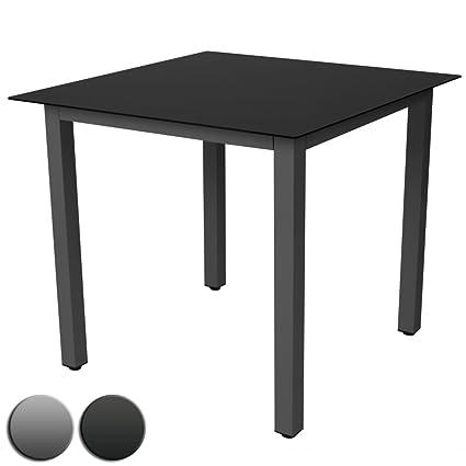 Amazon.com: Miadomodo – GRTTS03 Alu mesa de jardín 31.5 x ...