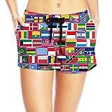 Yongchuang Feng Flag Of Countries Women's Cute Hot Pants Summer Casual Beach Shorts Quick Dry Swim Trunks