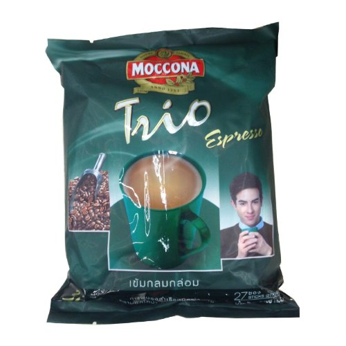 Moccona Trio Instant Coffee Mixed Espresso3 In1 18g Pack 27 Stickers Product of Thailand