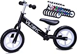 Vilobyc 12'' Anodised Aluminium Alloy Kids Push Ultralight Balance Bike (4.3 lbs) for Chirld 18month to 5years old Bicycle, 2018