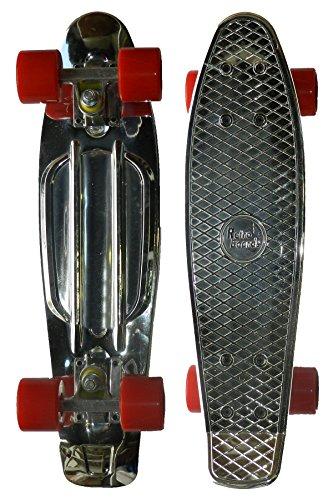 RETRO BOARDS TPU Print Skateboard, Chrome, 22-Inch