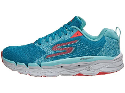 Skechers Women's Go Run Max Road Teal/Hot Pink 8 B US
