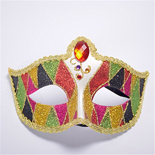 CHOP MALL Dancing Princess Mask Happy Halloween Dress-Up Costume Party Novelty Mask for Halloween Party Masquerade Cosplay Festival Parties