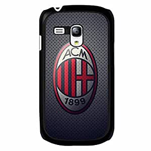Black Printed Associazione Calcio Milan Logo Phone Case Black Hard Plastic Case Cover For Samsung Galaxy S3 MINI