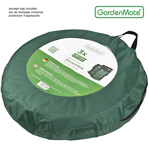 GardenMate 2-Pack 43 Gallons Pop-Up Garden Waste Bags - Collapsible spring bucket - Collapsible Container by GardenMate (Image #4)