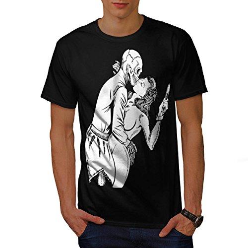 Deadly Kiss Poison Horror Men XL T-shirt | Wellcoda
