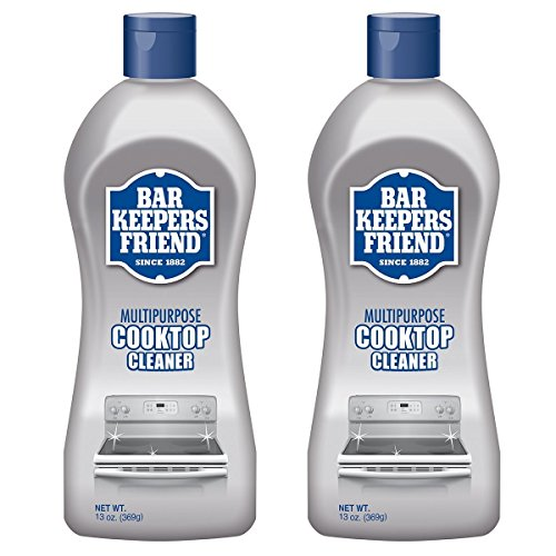 Bar Keepers Friend Multipurpose Ceramic and Glass Cooktop Cleaner | 13-Ounces | 2-Pack - Cleaner Cookware Steel Stainless